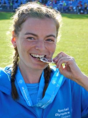 Hetty Bartlett 100m Silver medal 3